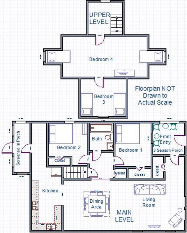 Floor Plan for Basil Cottage - Family Fun