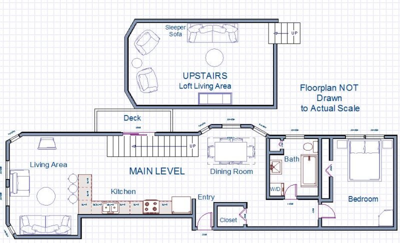 Floor Plan for Phoenix Court Lucky #7 Beautiful Downtown Condo